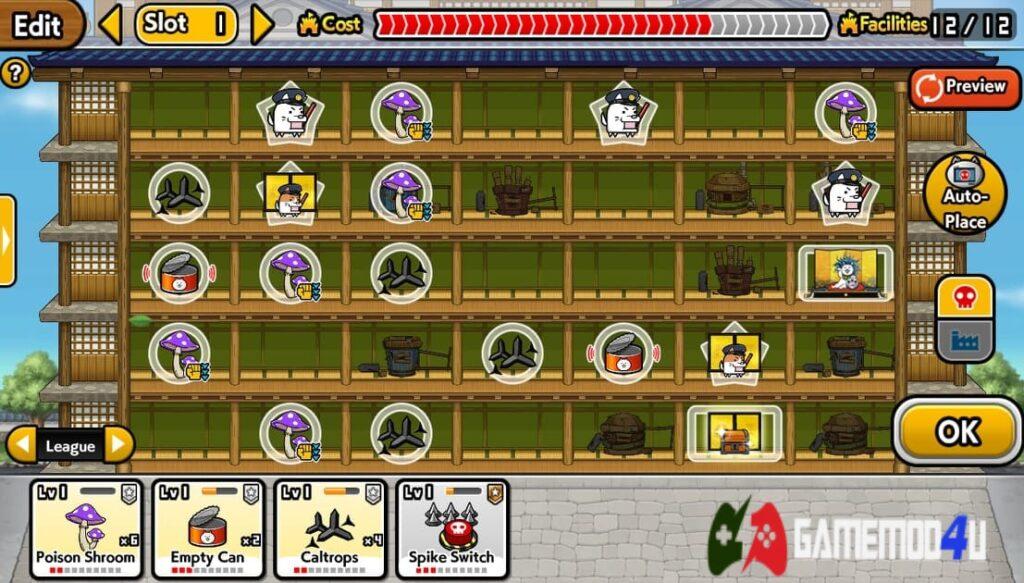 Setup bẫy trong game The Burgle Cats Mod