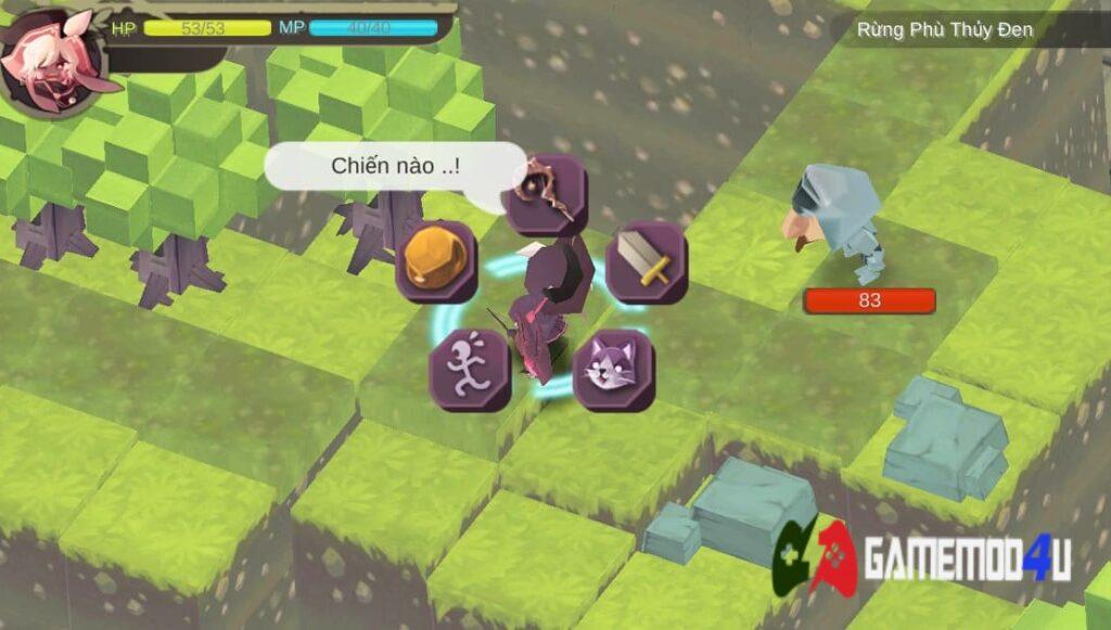 Chiến đấu trong game WitchSpring Mod