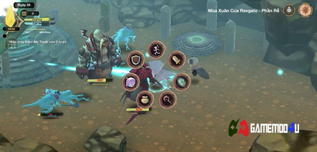 Chiến đấu trong game WitchSpring 3 Mod