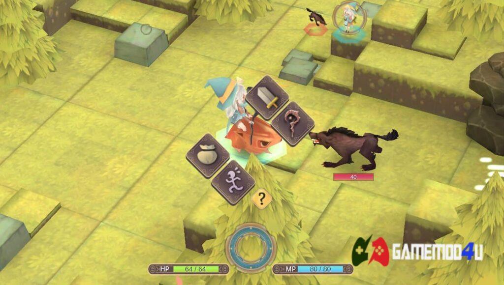Chiến đấu trong game WitchSpring 2 Mod