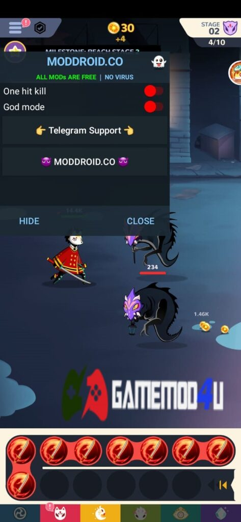Menu Mod trong game