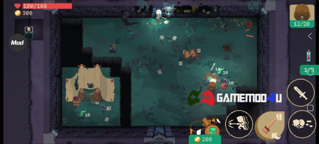Hình ảnh trong game Moonlighter mod apk full