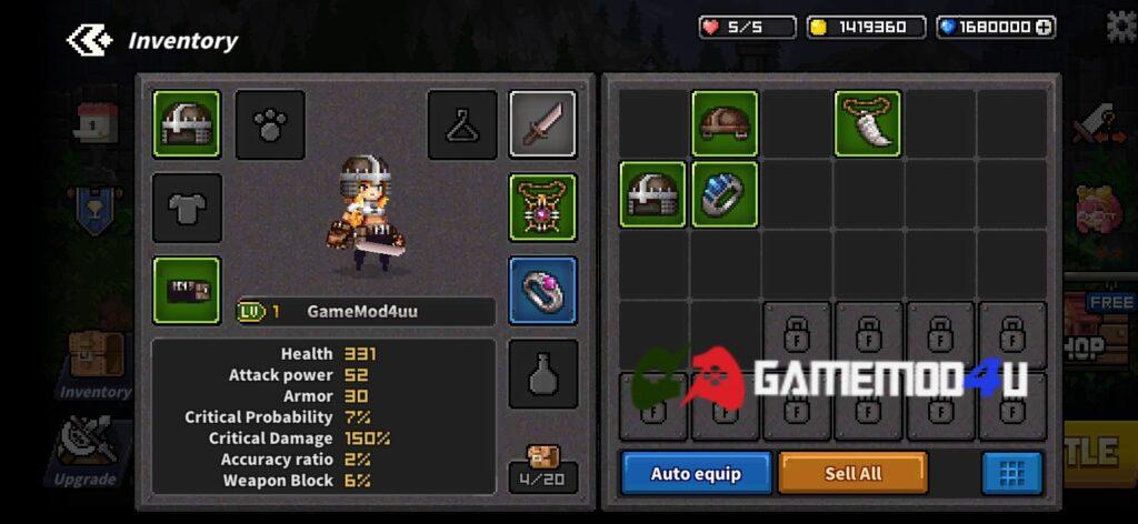 Nhân vật trong game Final Destiny mod full tiền