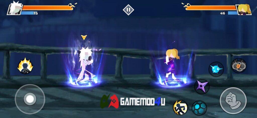 Gameplay của game Stickman Shinobi