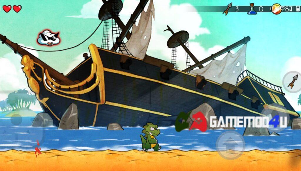 Đồ họa tựa game Wonder Boy The Dragons Trap mod apk